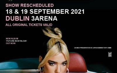 Dua Lipa, 3 Arena Dublin. 19th September 2021