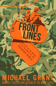 Front Lines book cover by Michael Grant ISBN 9781405273824
