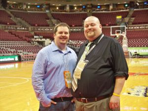 Michael and his mentor Aaron Matthews at the 2012 OHSAA State Championships