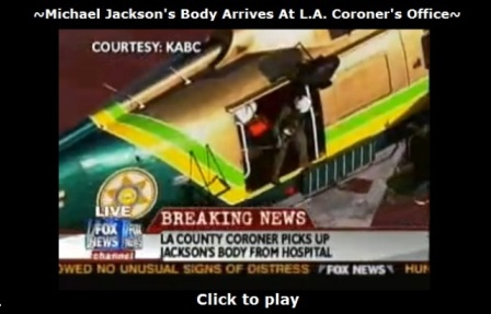 Michael Jackson's body arrived at coroners office
