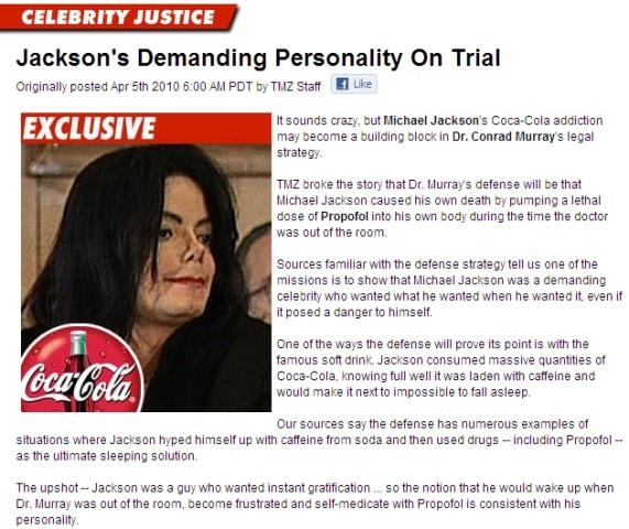Michael Jackson's demanding personality on trial
