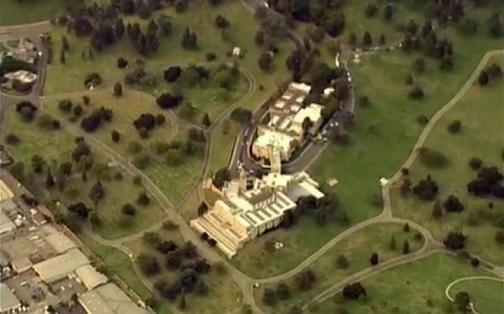 Aerial view Forest Lawn