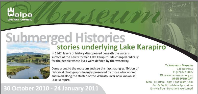 Submerged Histories | Te Awamutu Museum