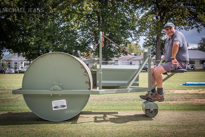 Cricket pitch roller Victoria Square Cambridge New Zealand