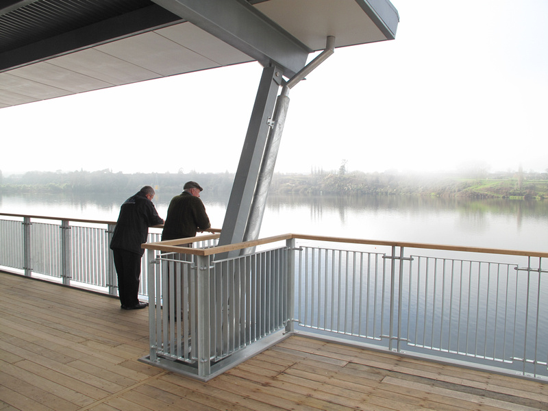 From the upper deck of the Don Rowlands Centre Lake Karapiro