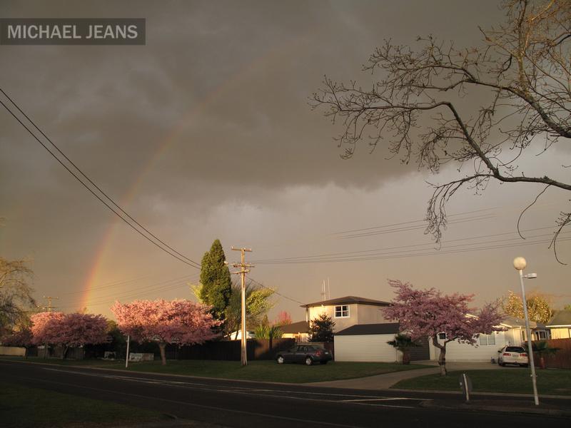 Rainbow towards the east