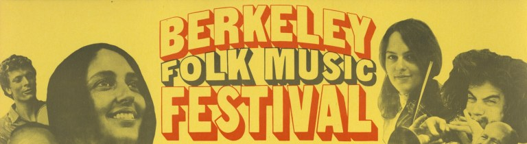 Berkeley Folk Music Festival 1968 Header