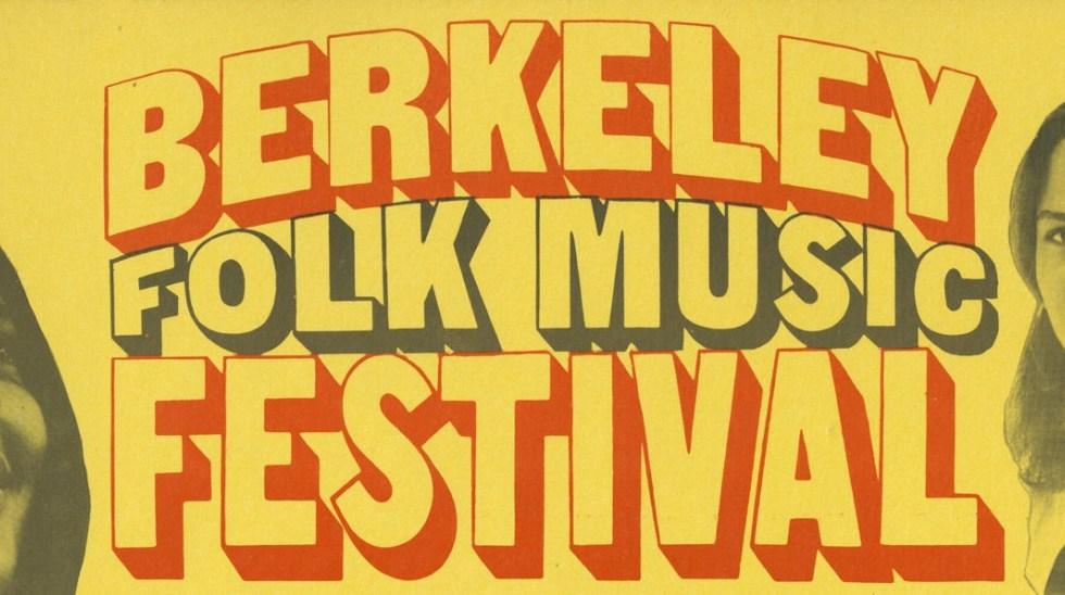Berkeley Folk Music Festival 1968 Poster Header