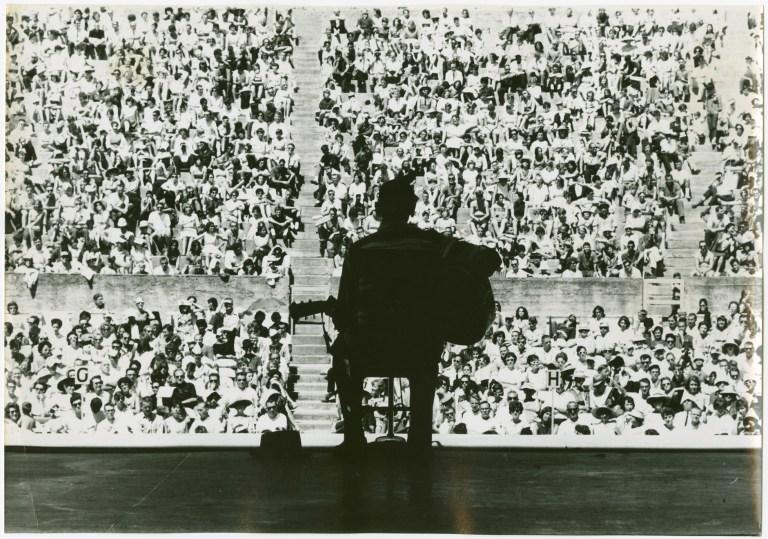 Mance Lipscomb Silouette Greek Theatre 1961