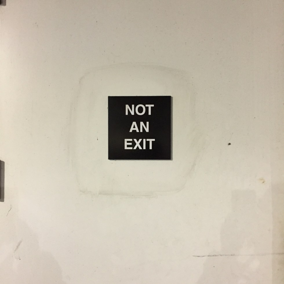 Not an Exit Photo by Michael J. Kramer