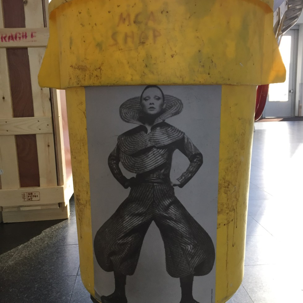 Bowie Garbage Can MCA Photo by Michael J. Kramer