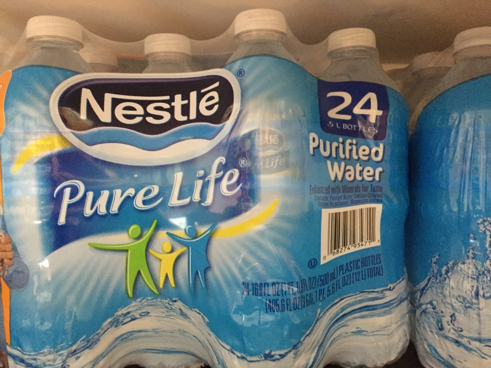 Pure Life Nestle Water Bottles