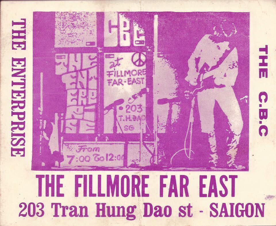 CBC Band poster, The Fillmore Far East, Saigon, Vietnam, 30 April 1971.