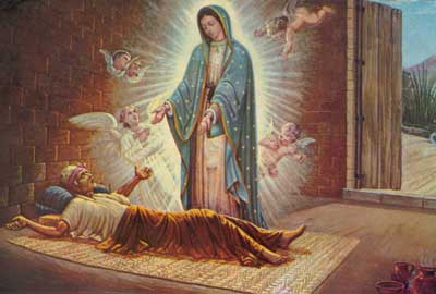 Image result for our lady of guadalupe Juan Diego's uncle Juan Bernardino