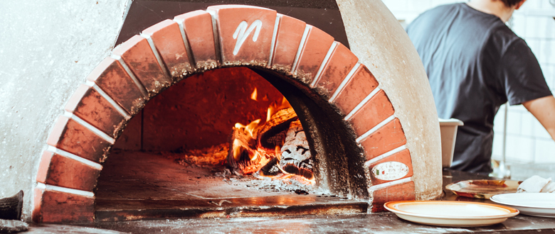 A Brick Oven For Making Pizza