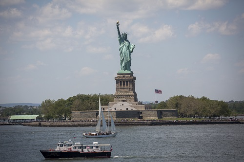 View of the Statue of Liberty, on Liberty Island in the middle of New York Harbor, in Manhattan, New York City . June 6, 2016. Photo by Yonatan Sindel/Flash90 *** Local Caption *** ניו יורק מנהטן ארצות הברית פסל החירות