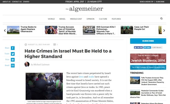 algemeiner article