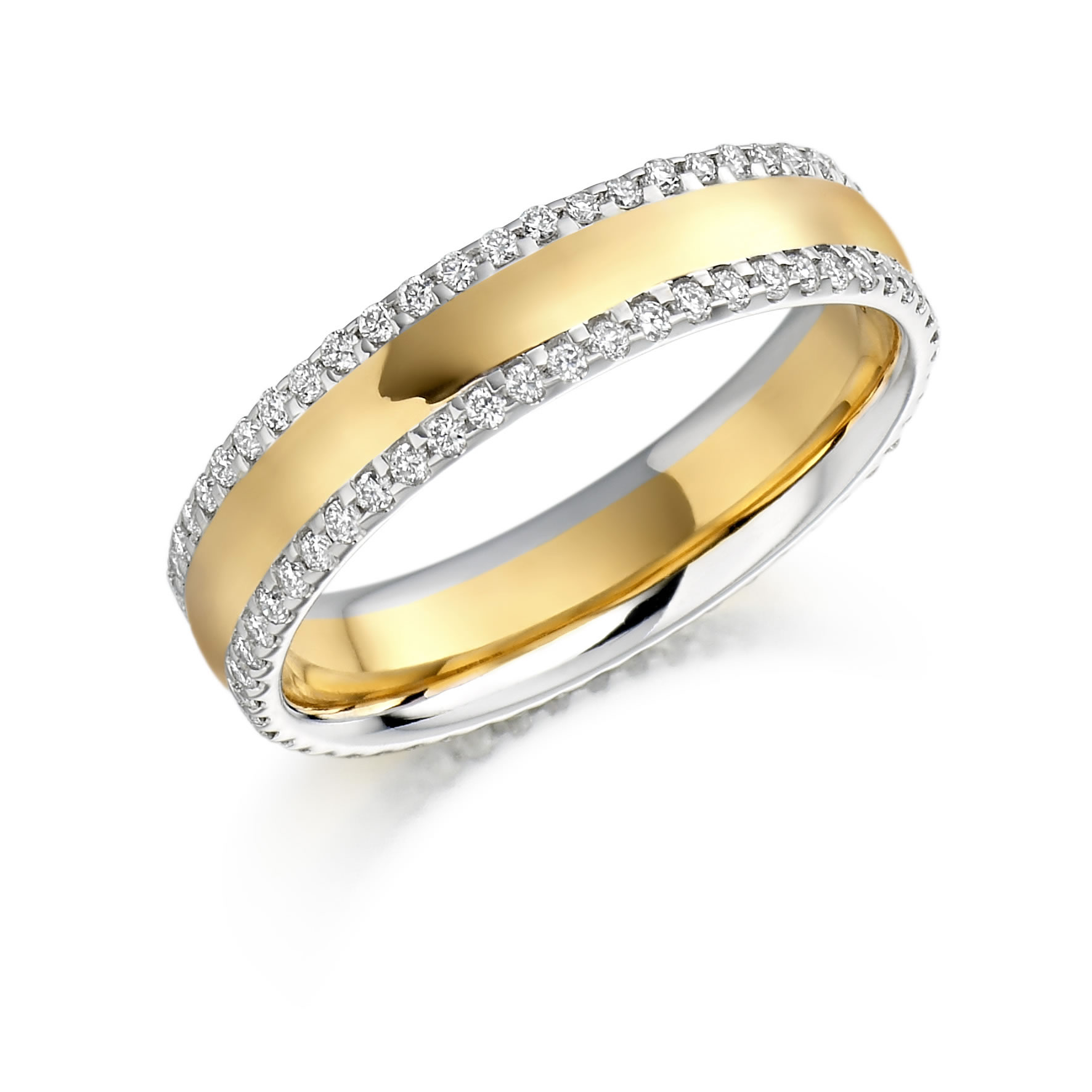 Raphael Two Tone Diamond Set Wedding Band Michael Lynes Specialist Independent Jewellers