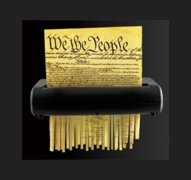 Image result for constitution shredded