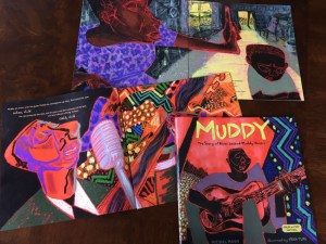 Images from my new picture book Muddy: The Story of Blues Legend Muddy Waters on a desk