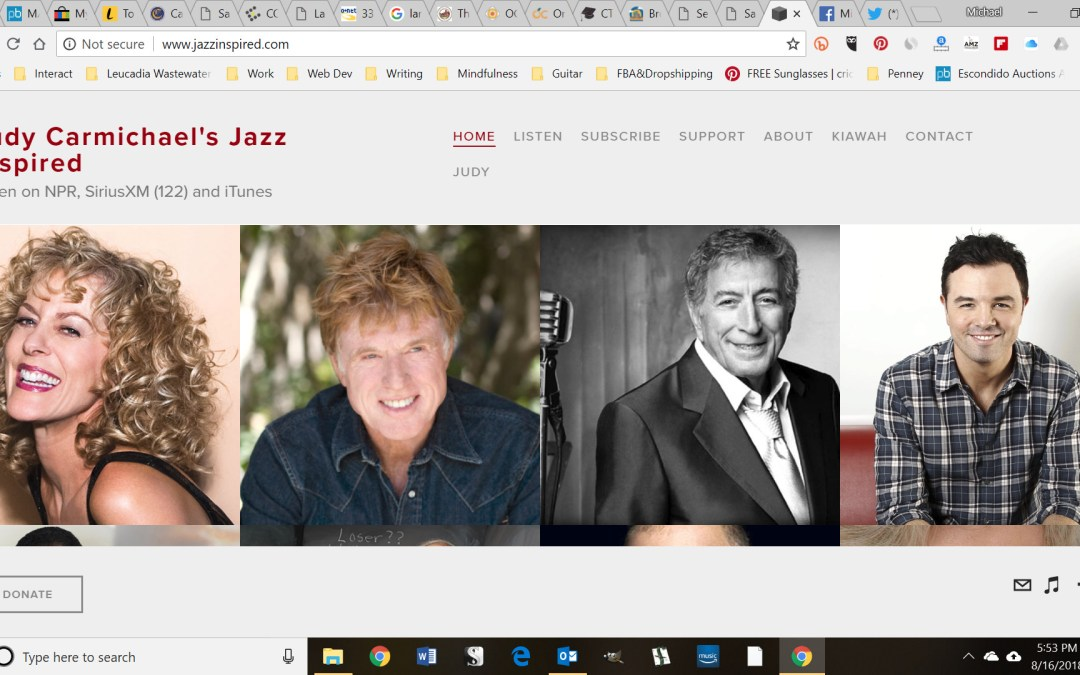 Guess Who's on NPR's Jazz Inspired with Legendary Stride Queen Judy Carmichael?!