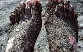 Bare feet in Sand