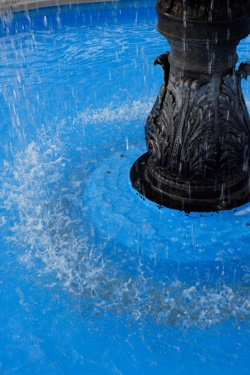 Fountain with Blue Bottom