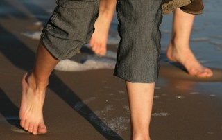 Walking Barefoot in the Sand