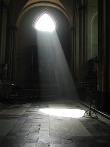 Sunlight shining through a window