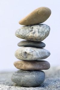 Stack of flat stones