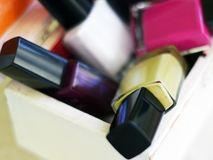 Nail polish is made with solvents and toxins.