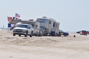 RV in Desert