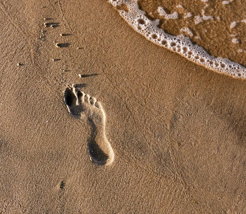 Beach Footprints Footprint Sand