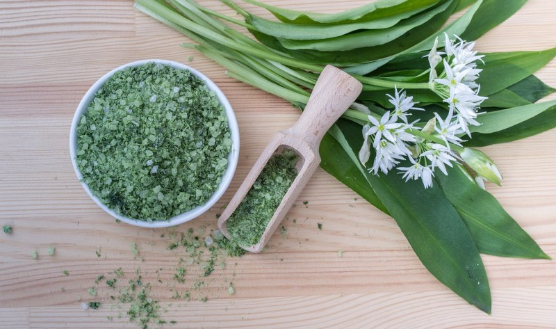 Herbs Salt Grains Leek Herbal Salt