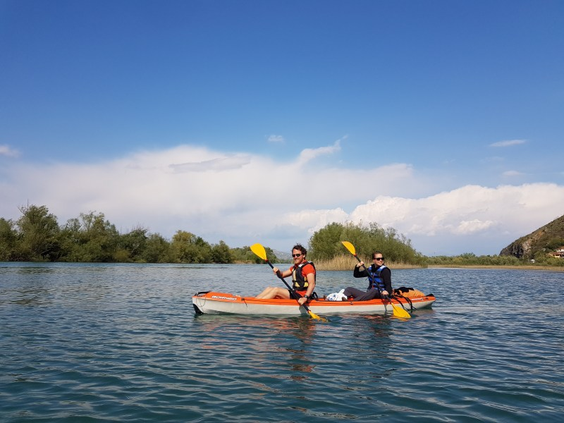 Couple Riding in a Kayak