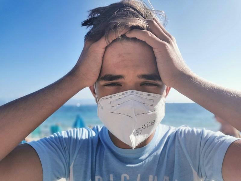 Man Student Mask Vacations