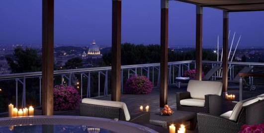 Rome Cavalieri Planetarium suite terrace
