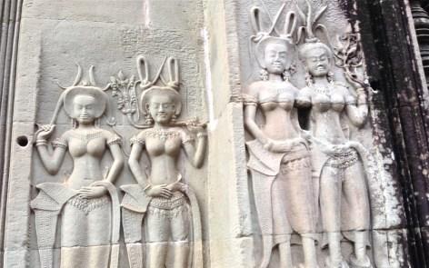 apsara dancer detail