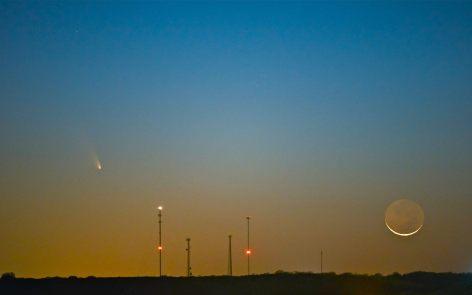 Comet Pan-STARRS Crescent Moon