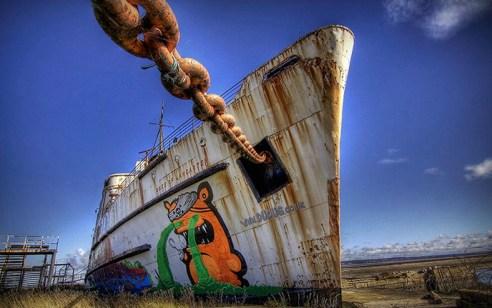 Duke of Lancaster grafitti