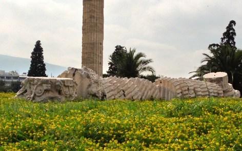 Temple of Olympian Zeus - fallen column