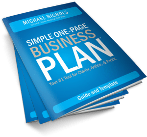 simple one page business plan guide template michael nichols