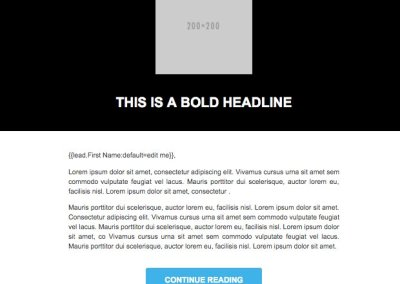 marekto Guided landing page and email templates