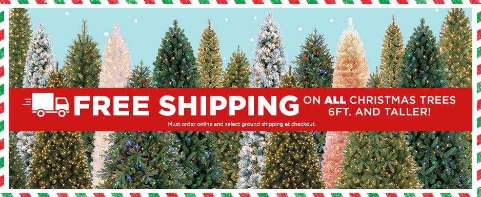 Michaels free shipping on all christmas trees 6ft taller free shipping on all christmas trees 6 ft and taller must order online and m4hsunfo