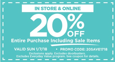 20% OFF Entire Purchase