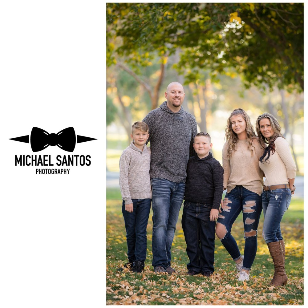 family standing in the park for their lancaster family photography session