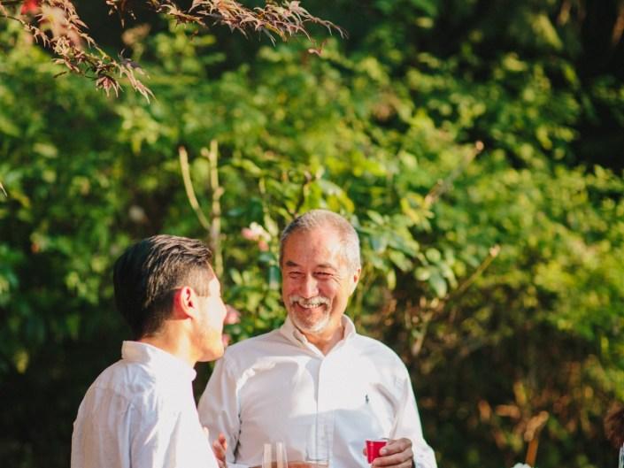 kim's backyard wedding reception