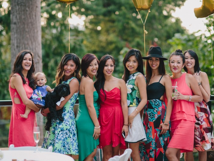 kim's backyard wedding reception