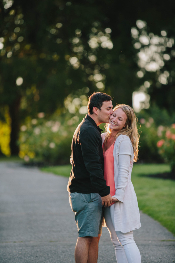stanley park rose garden engagement