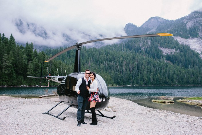 Rob & Salma's Helicopter Engagement in Vancouver